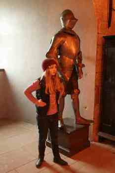 My 10 yr old daughter - I hope her armour is lighter than this...